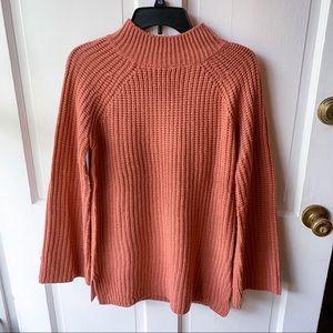 Pink Rose Pink Wide Sleeve Knit Turtleneck Sweater
